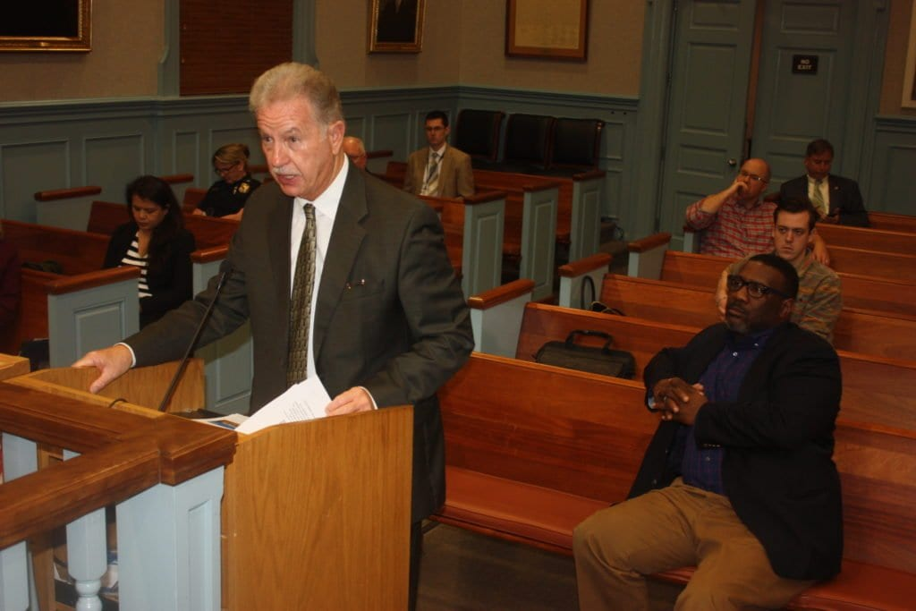 F.C. SCHOOLS' INTERIM Superintendent Dr. Robert Schiller made a passionate case for a new $2 million allocation by the F.C. City Council to cover the added change-order costs of the Mt. Daniel expansion and renovation to begin in June. The Council voted 6-0 to comply with his submission. (Photo: News-Press)
