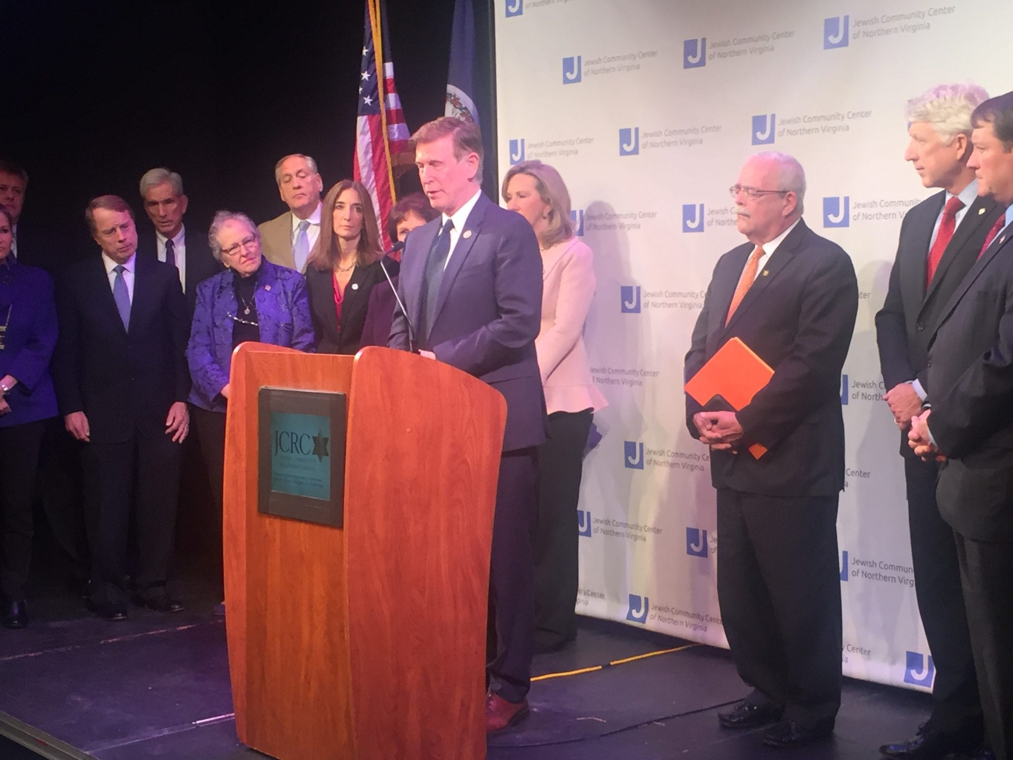 U.S. Rep. Donald Beyer Jr. speaks at a news conference to denounce anti-semitism at the Jewish Community Center of Northern Virginia in Fairfax on Friday. (Photo: News-Press)