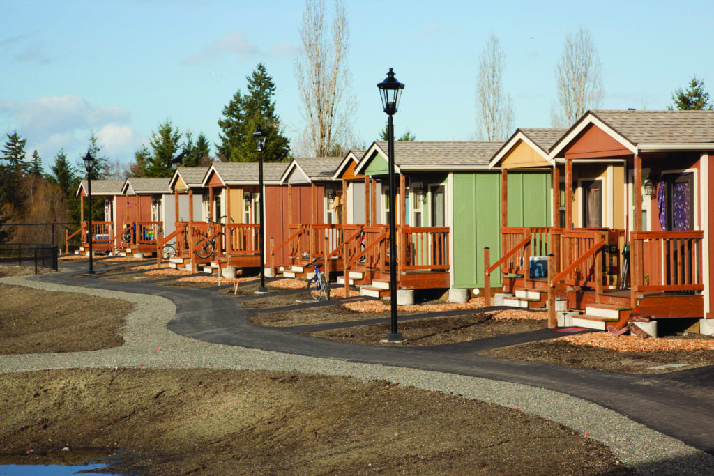 A COTTAGE COMMUNITy in Olympia, Wash. (Photo: Jeremy Bittermann/The New York Times)