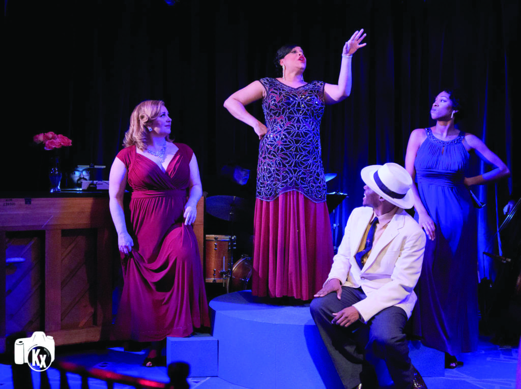 "A SCENE FROM CREATIVE CAULDRON'S ""Blues in the Night"" with (left to right) Katie McManus, Iyona Blake, Clifton Walker III and Raquel Gregory-Jennings. (Photo: Keith Waters)"