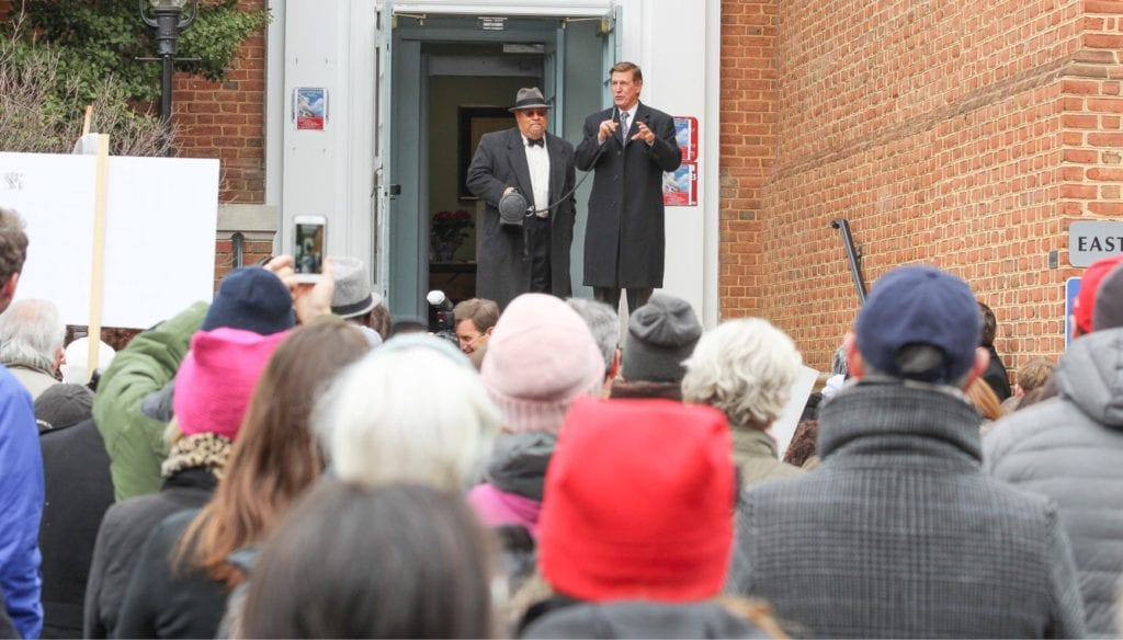 U.S. Rep. Don Beyer speaks at Falls Church City Hall during Monday's Dr. Martin Luther King, Jr. Day events. (Photo: Jared Wood)