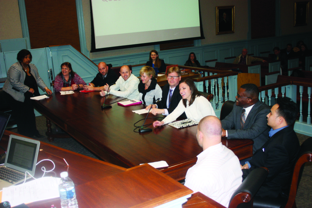 PRINCIPALS OF THE 5 Falls Church City Public Schools assembled before the F.C. School Board Tuesday night to delineate the needs they've identified for staffing in their schools in the coming year. (Photo: News-Press)