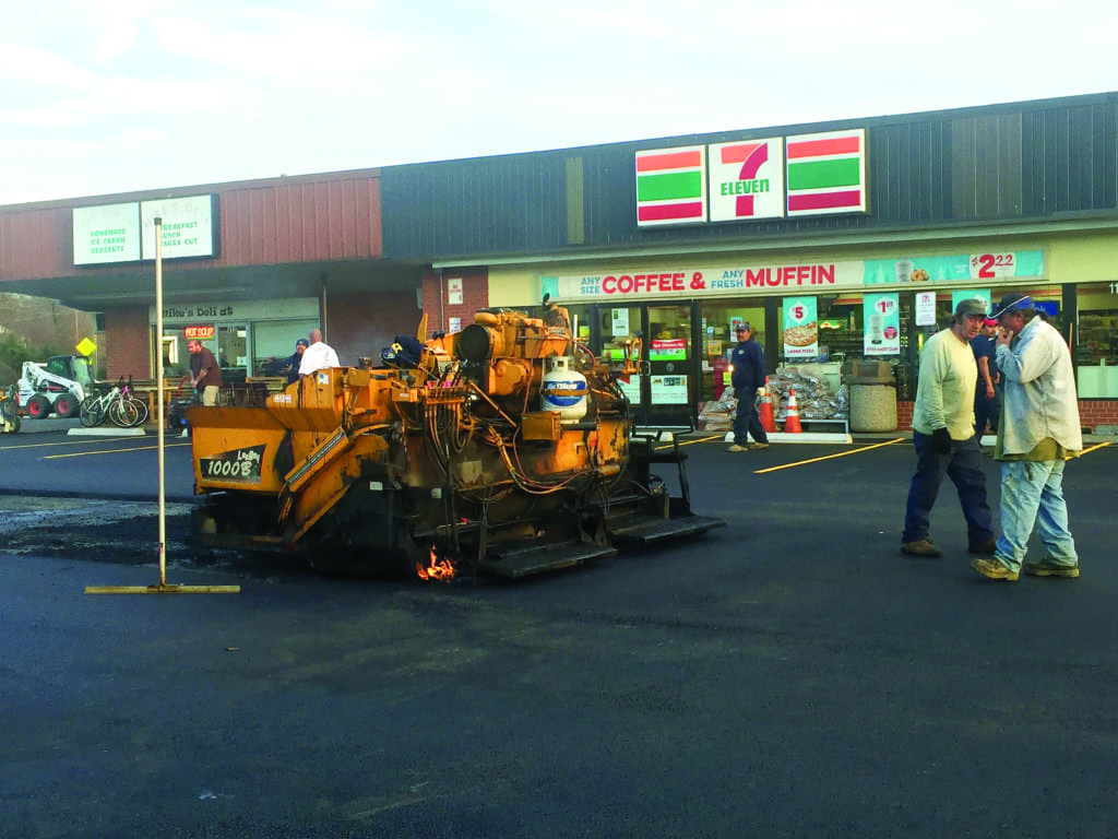The 7-Eleven near West and Broad streets in Falls Church had its lot freshly repaved last week. (Photo: News-Press)