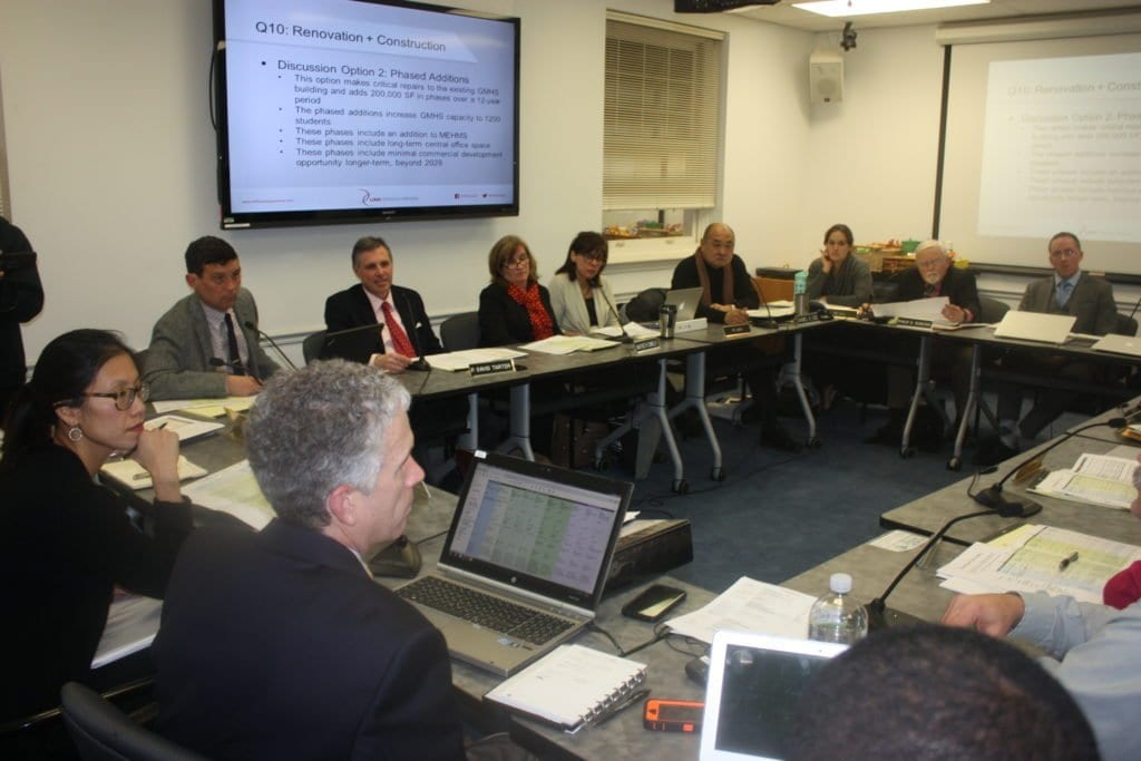 TUESDAY NIGHT'S joint meeting of the F.C. City Council and School Board mulled further the right approach to the renovation and development of the George Mason High School. (Photo: News-Press)