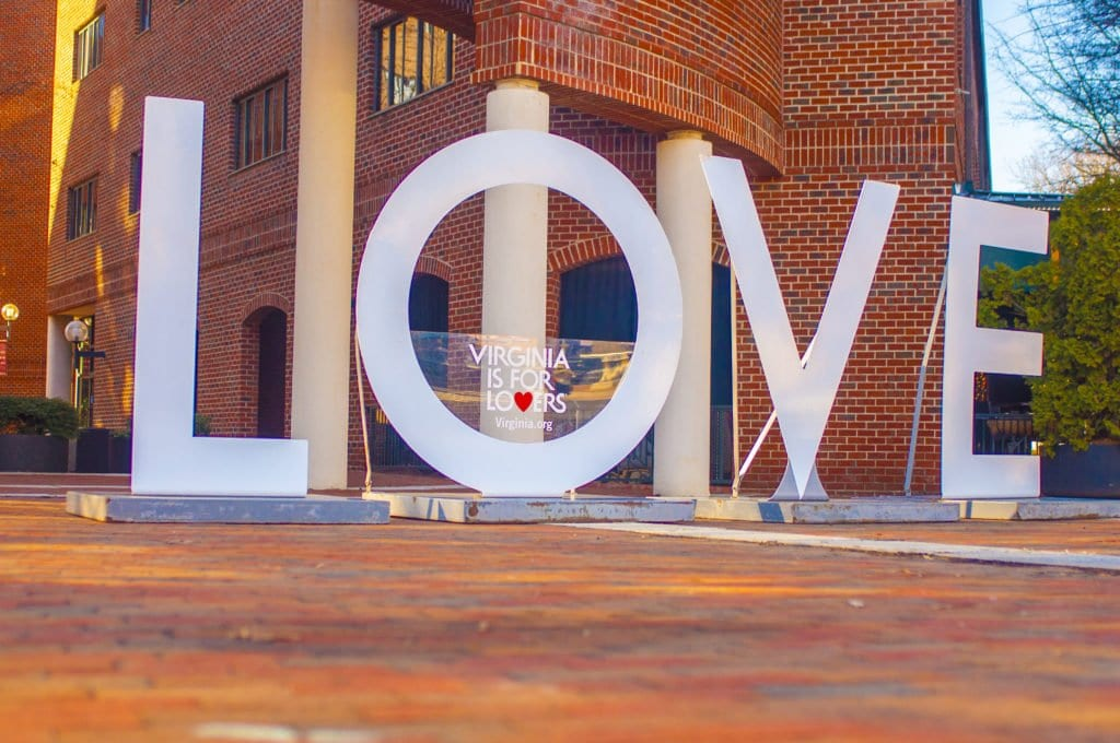 """THE """"LOVE"""" LETTERS, returning to Falls Church thanks to The Little City CATCH Foundation, are set to be a major attraction during the City's annual Watch Night celebration this Saturday. The sculpture will be center stage in George Mason Square at the corner of S. Washington and Broad streets during the New Year's Eve event kicking off at 7 p.m.  Dec. 31. (Photo: Drew Costley)"""