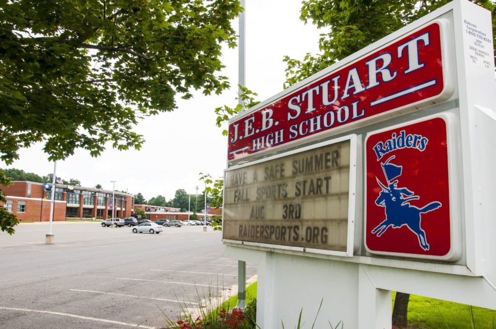 FAIRFAX COUNTY PUBLIC SCHOOLS interim division superintendent Steve Lockard sent out a letter saying that the school divison is accepting nominations to a working group that will research, study and discuss the J.E.B. Stuart High School renaming issue. (Photo: Drew Costley/News-Press)