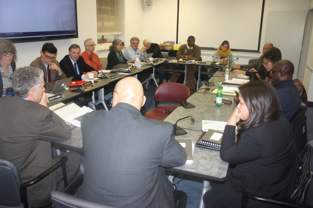 """MONDAY'S JOINT SESSION of the Falls Church City Council and School Board took a first """"sobering look"""" at the parameters for the upcoming Fiscal Year 2018 budget cycle. (Photo: News-Press)"""