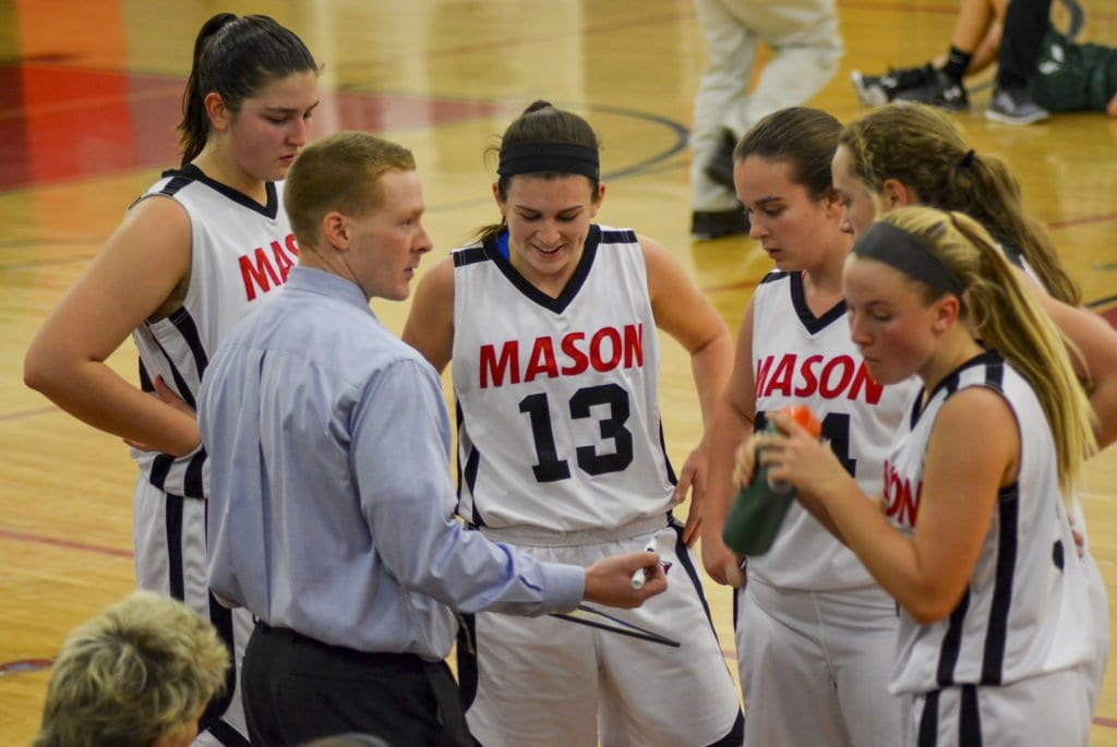 GIRLS BASKETBALL HEAD COACH MIKE GILROY expects that his team to win the Virginia High School League state championship this year. The team went 15-9 last year and won the Conference 35 championship. (Photo: Carol Sly)