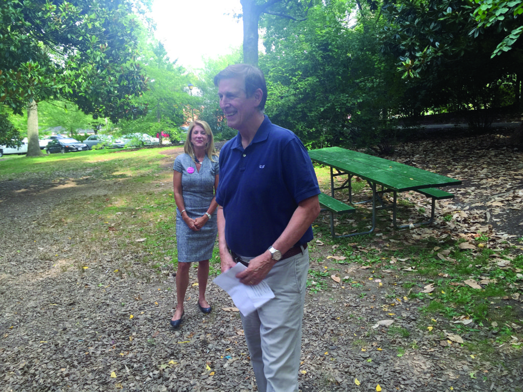 U.S. REP. DON BEYER appeared at the Falls Church City Democratic Committee's Ice Cream Social on Labor Day with Texas State Sen. Wendy Davis. (Photo: News-Press)