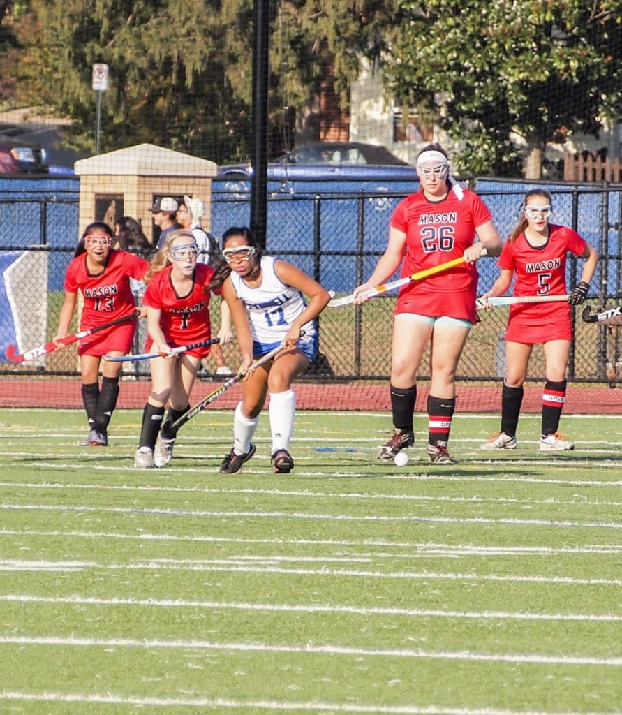 MASON FIELD HOCKEY SNAPPED its three-game losing streak on Monday against Bishop O'Connell. (Courtesy Photo)