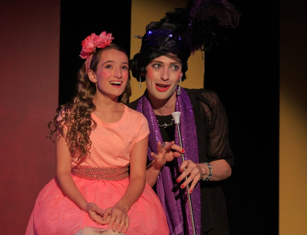 """Sophia Manicone and Alan Naylor in Creative Cauldron's """"Ruthless! The Musical."""" (Photo courtesy: Keith Waters, Kx Photography)"""