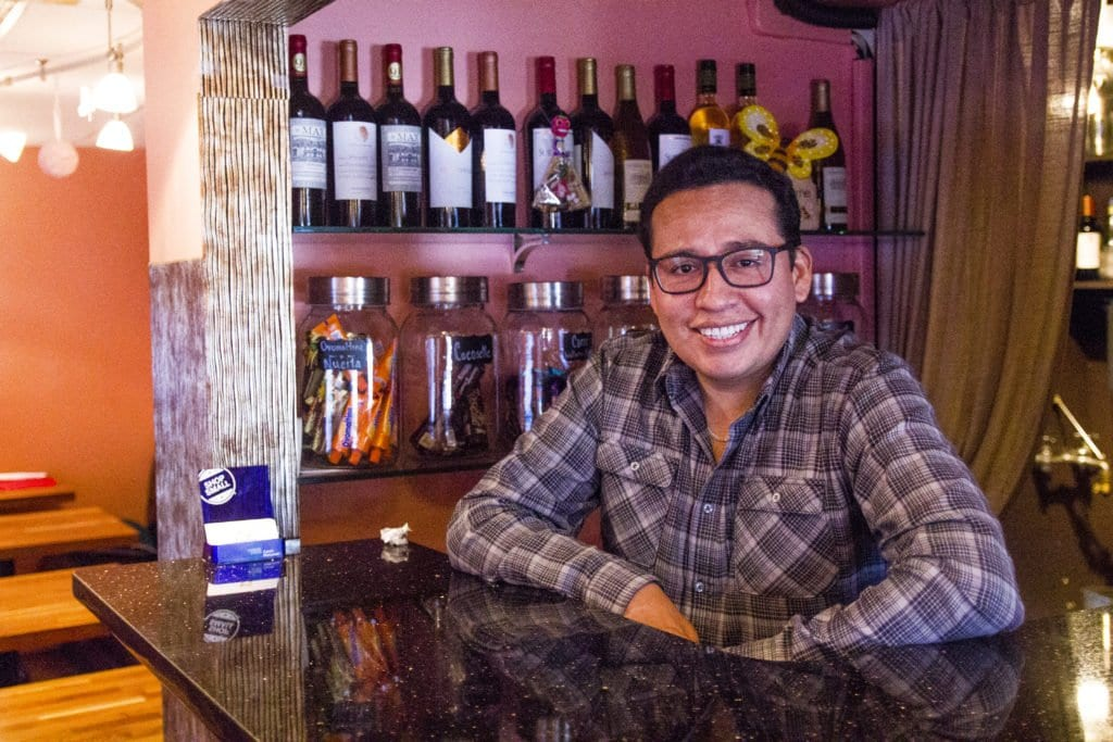 La Caraqueña OWNER-CHEF RAUL CLAROS is back at his Falls Church restaurant with an all-new menu focusing on Venezuelan street food. (Photo: Jody Fellows)