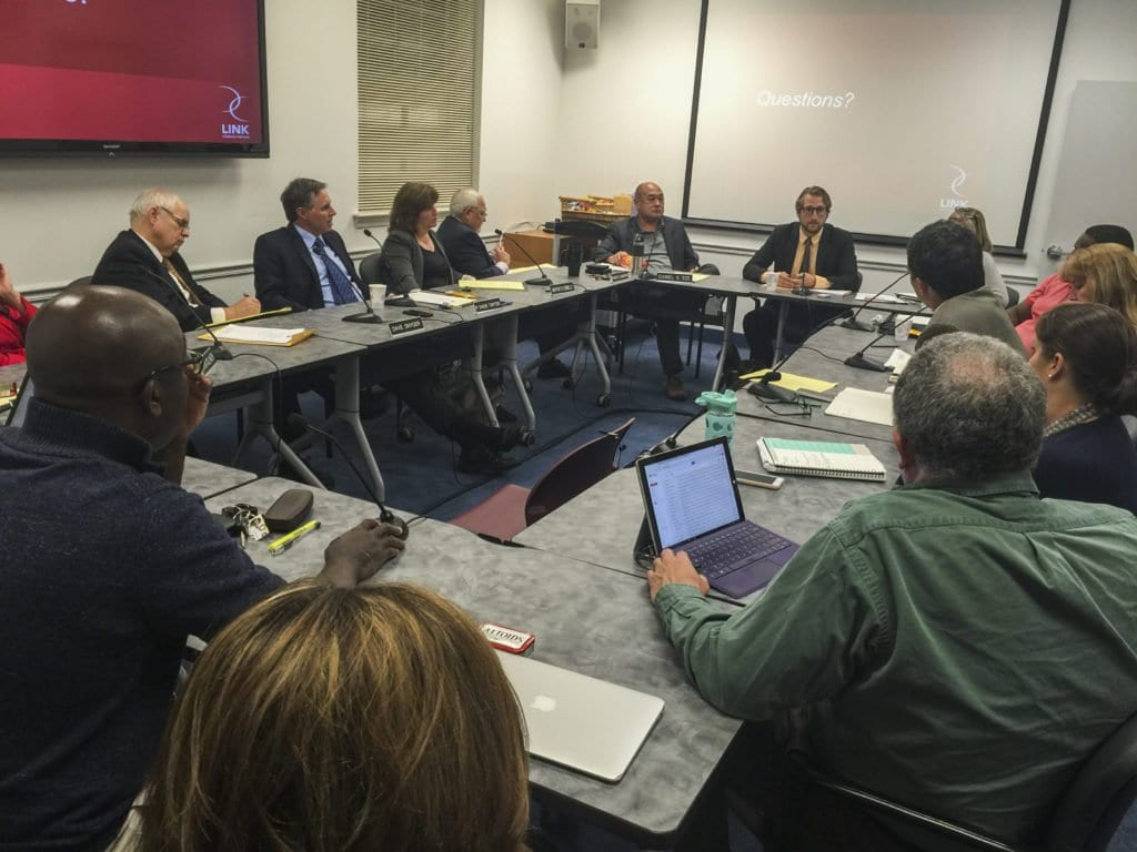 THE FALLS CHURCH CITY COUNCIL AND SCHOOL BOARD held a joint session on Monday, Oct. 3. (Photo: News-Press)