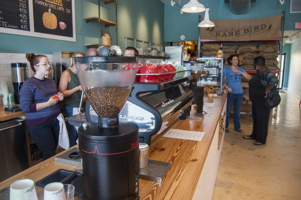 RARE BIRD COFFEE ROASTERS opened this week, throwing its hat into Falls Church's already crowded coffee shop ring. (Photo: Drew Costley/News-Press)