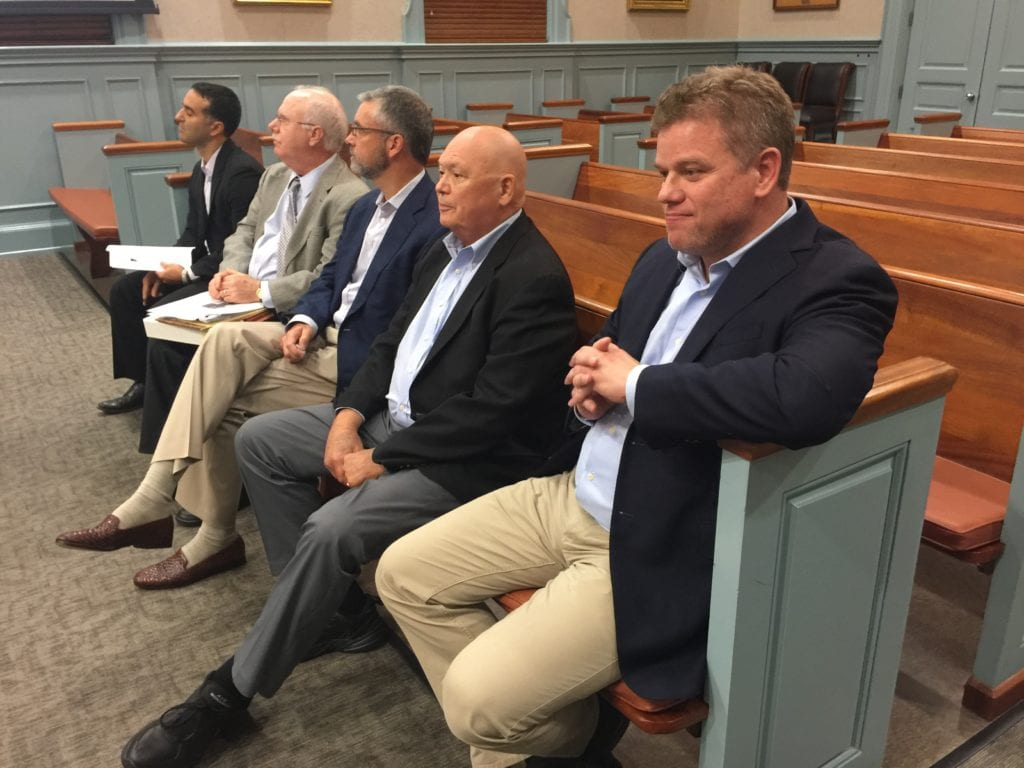THE MASON ROW team was out in force at the F.C.Planning Commission meeting Monday night. (Photo: News-Press)