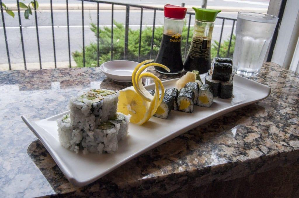THE PRESENTATION OF THE SUSHIi at Maneki Neko Express is wonderful. And it tastes good, too. (Photo: Drew Costley/News-Press)