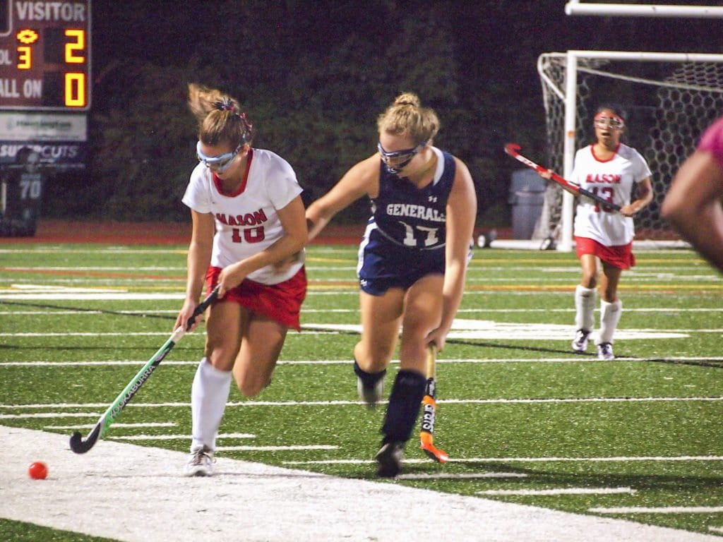 MASON FIELD HOCKEY dropped two straight to Arlington County teams before beating Liberty High School on Tuesday, Sept. 20. (Photo: Courtesy of Justin Wills)