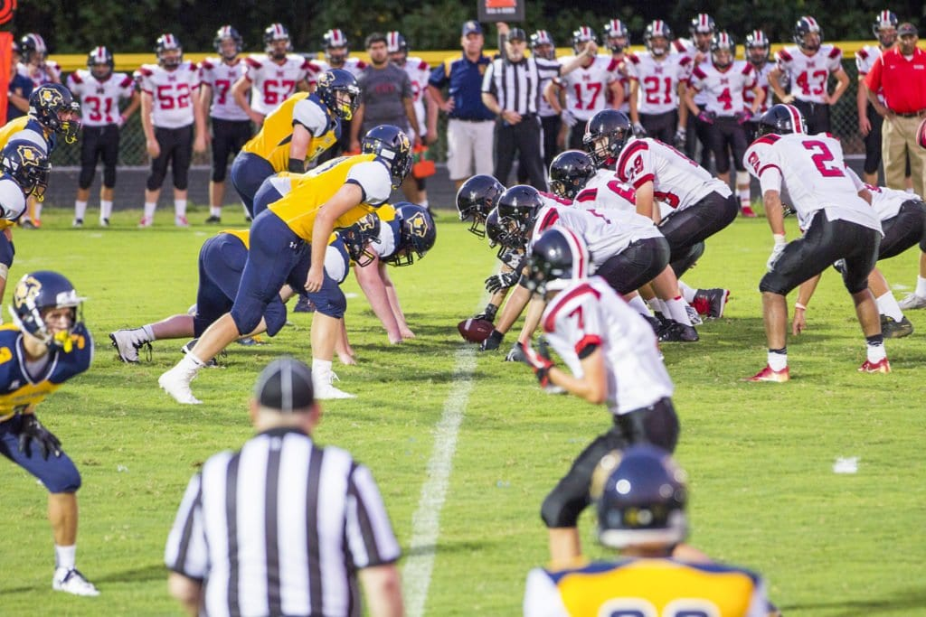 THE MUSTANGS FACED OFF against Rappahannock County High School in its season opener and came away with a 34-0 win. (Photo: Courtesy of FCCPS Photos)