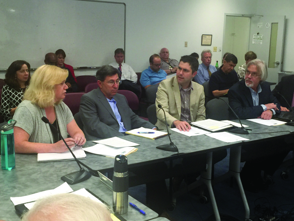 Falls Church Chamber of Commerce leaders spoke at a City Council work session Tuesday and were queried on their views of improvements taking place and being considered. Left to right: Sally Cole, Alan Frank, Andrew Painter and Joe Wetzel. (Photo: News-Press)