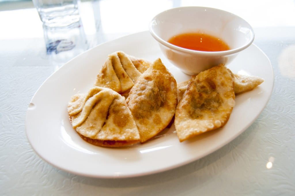 Even the staunchest meat eater will find the fried wontons at Loving Hut delicious. Photo: Drew Costley