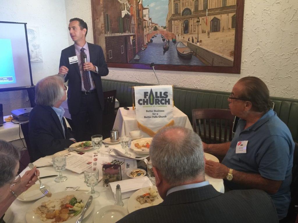 Del. Simon addresses the Falls Church Chamber of Commerce. (Photo: News-Press)