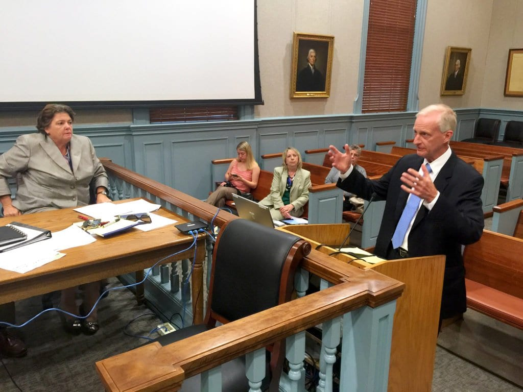 "JACK EVANS, longtime Washington D.C. City Councilman and chairman of the board of WMATA, spoke to the Falls Church City Council Monday night about the Metrorail's ""SafeTrack"" program and added his interest in potentially working with Falls Church on developing around the West Falls Church Metro site. (Photo: News-Press)"