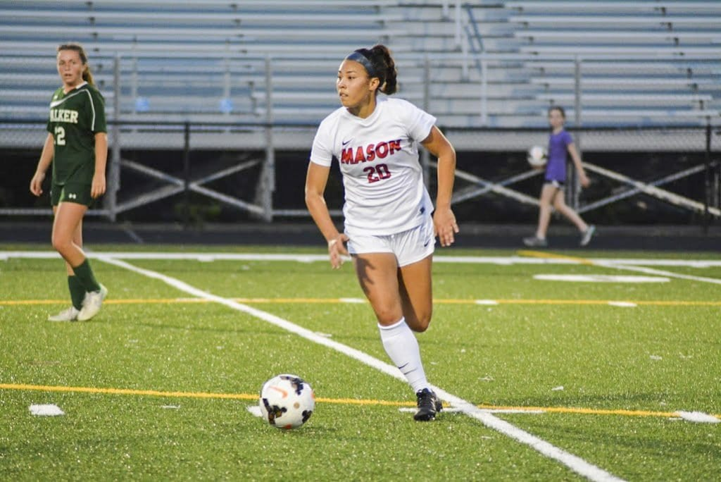 MASON JUNIOR FORWARD REBECCA CROUCH was named the Virginia High School League's 2A Player of the Year for girls soccer. (Photo: Carol Sly)