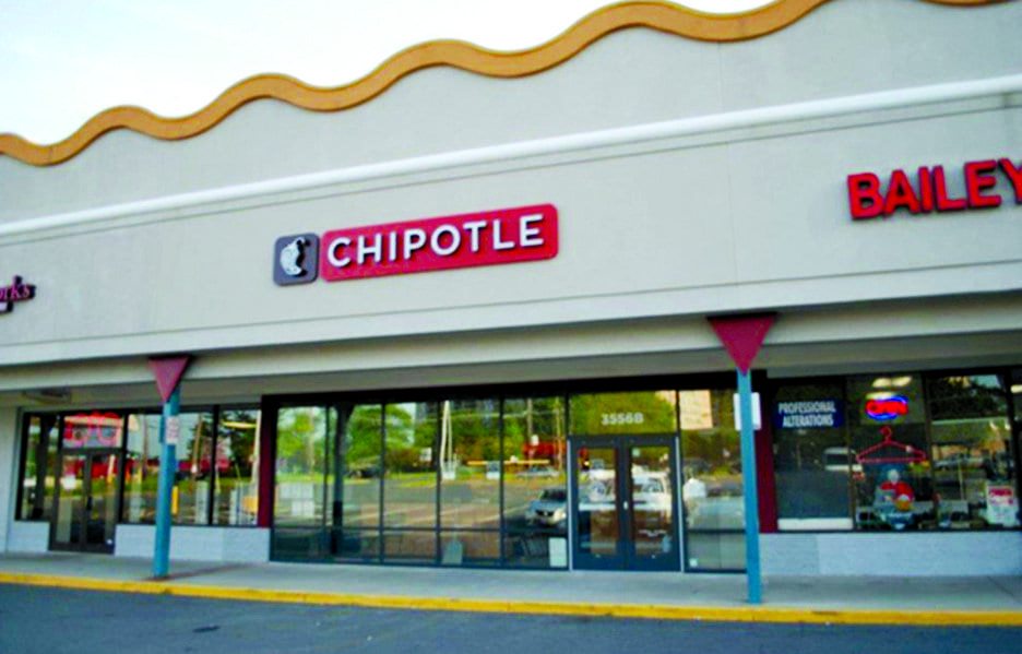 CHIPOTLE MEXICAN GRILL will be opening in the Crossroads Place shopping center in Bailey's Crossroads later this month. (Photo: Courtesy Levin Management)