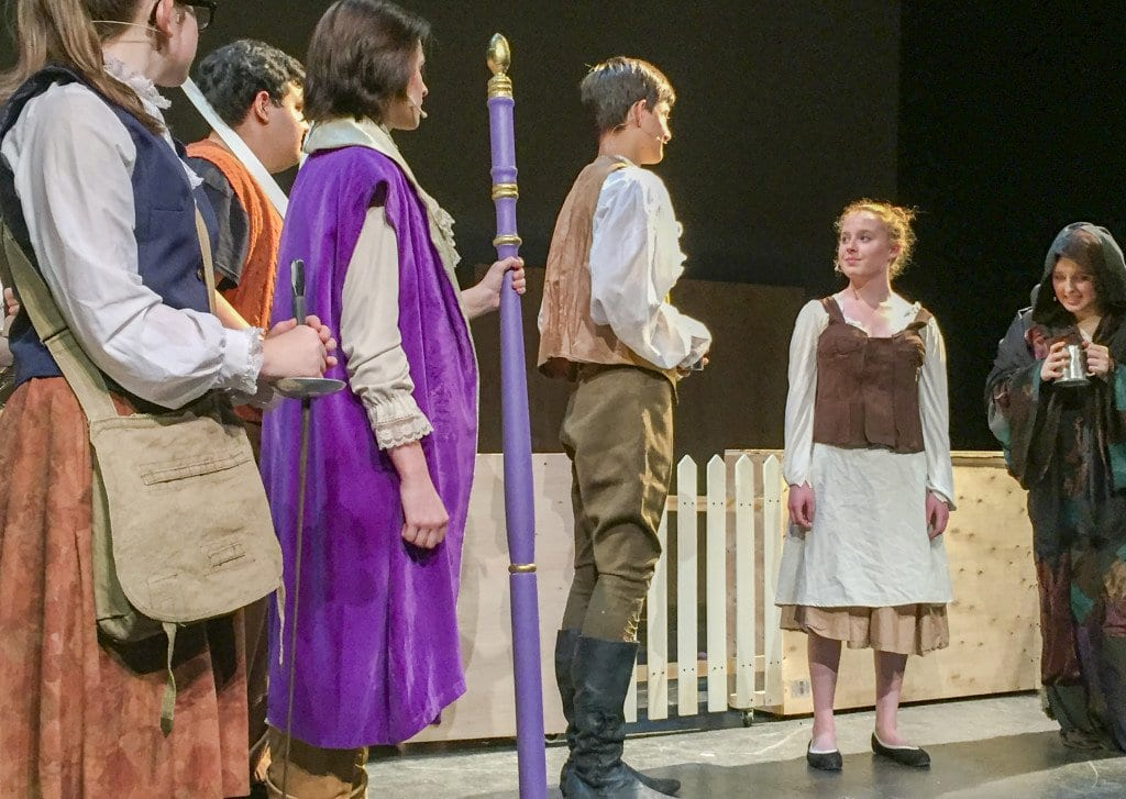 The crowd watches on as Prince Topher, played by Christophe Jelinski, meets Ella, played by Syd Kirk, during McLean High School's production of Cinderella. (Photo: Courtesy of Douglas Rome)