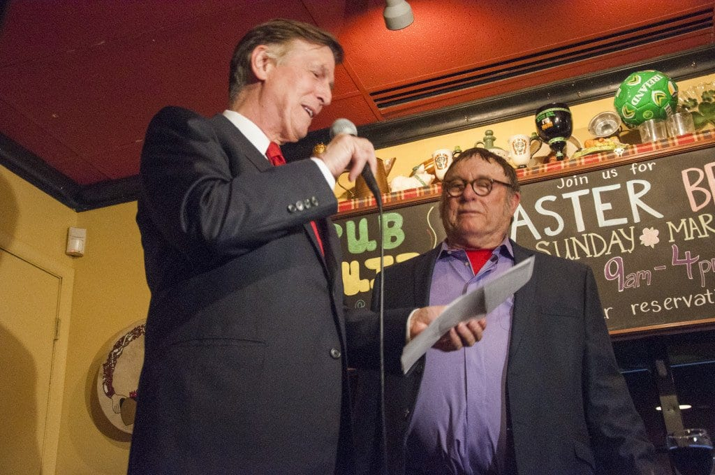 U.S. Rep. Don Beyer and News-Press founder and owner Nicholas F. Benton at the FCNP's 25th anniversary party last Thursday. (Photo: News-Press)