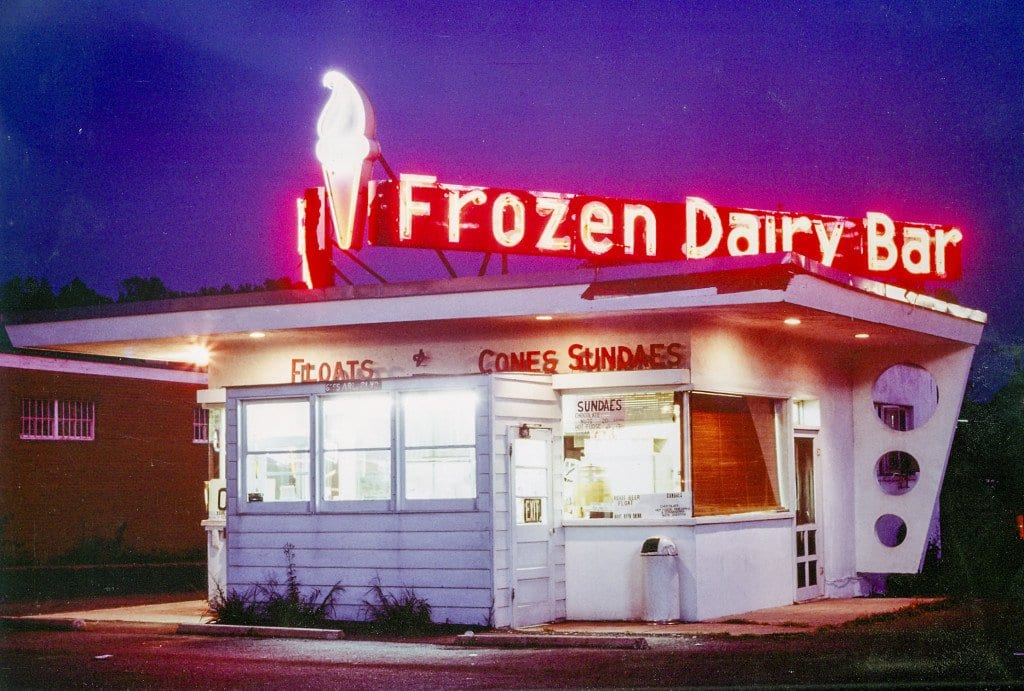 The Frozen Dairy Bar stand, the original iteration of the restaurant, opened in 1950 and operated until 2004 as only a frozen custard shop. (Courtesy Photo)