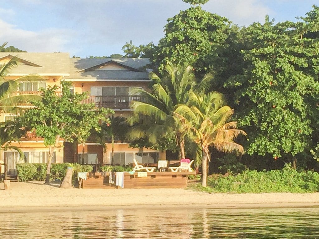 """Local realtor Stacy Hennessey recently bought this home in Roatan to use as a vacation rental. Hennessey's search for a Roatan property was documented on the HGTV show """"House Hunters International."""" The house has a waterfront deck, a pool and a hammock for maximum relaxation.  (Courtesy Photo)"""