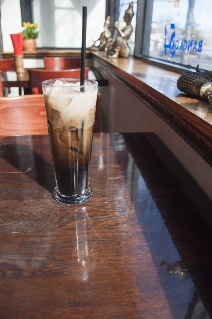 The Thai iced coffee at Bangkok 54 is sweet and full-bodied. It's among the best in the region. (Photo: Drew Costley/News-Press)