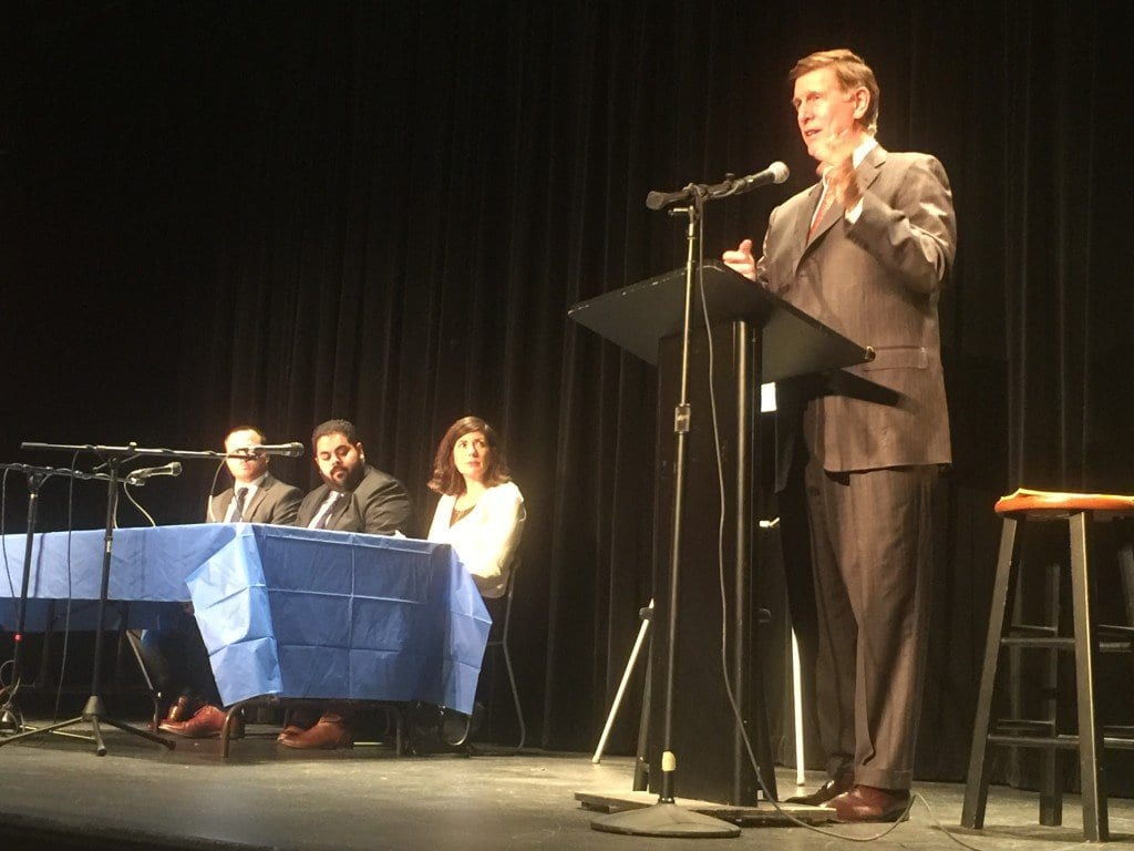 U.S. REP. DON BEYER held the first town hall of his first term in office at the James Lee Center in Falls Church Monday night. (Photo: News-Press)