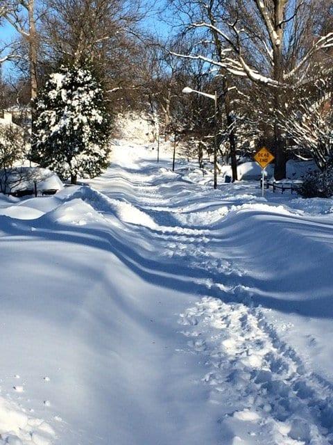 The road to Mount Daniel Elementary School. (Photo: Kristin Sherard)