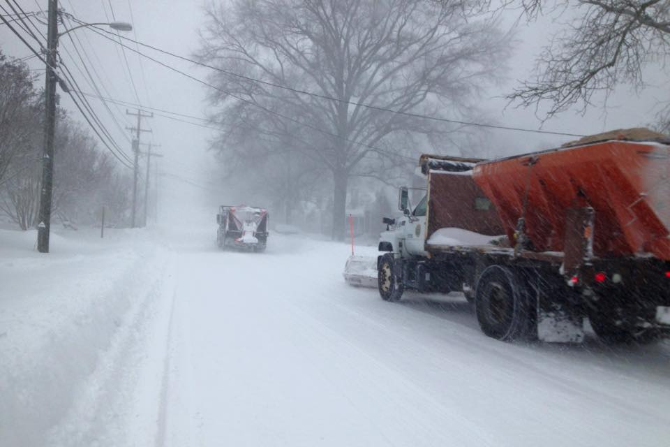 City crews plowing during the storm Saturday. (Photo: Phil Duncan)
