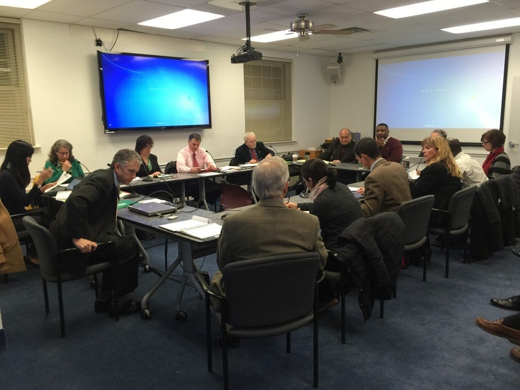 THE NEWLY-CONVENED Falls Church City Council and School Board met In a joint closed session at City Hall tonight to discuss a range of issues going into the New Year and the new annual budget cycle. (Photo: News-Press)
