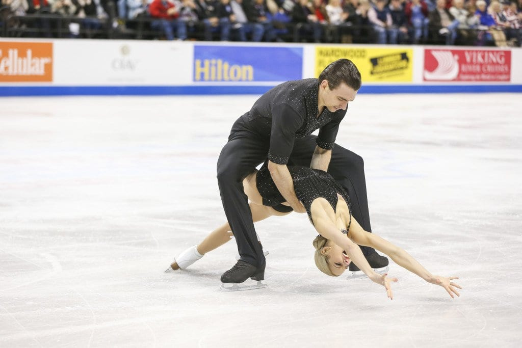 Ice dancers Madison Chock and Evan Bates, seen dancing here, won silver at the Grand Prix Final. (Photo:U.S. Figure Skating/Jay Adeff)