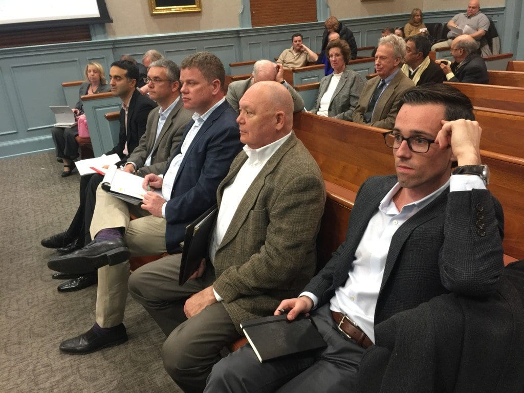 DEVELOPERS OF THE Mason Row project watched as the F.C. Council voted 6-0 in favor of their plan. (Photo: News-Press)