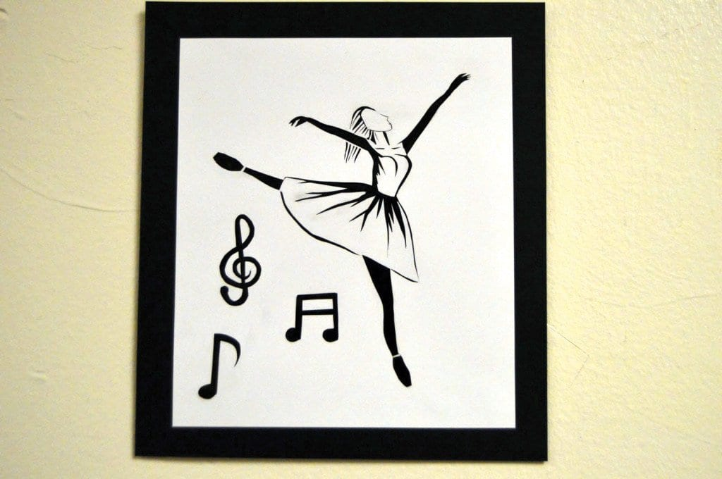 """Freshman Christine Phans's representation above of a ballerina dancing while music notes float around her. """"I saw a similar picture on Pinterest,"""" said Phan."""