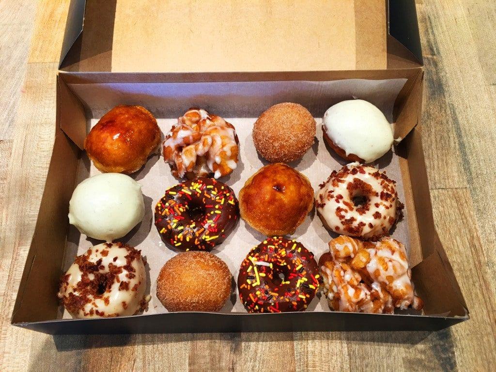 Astro Doughnuts' Thanksgiving box of mini doughnuts. (Photo: Astro Doughnuts)