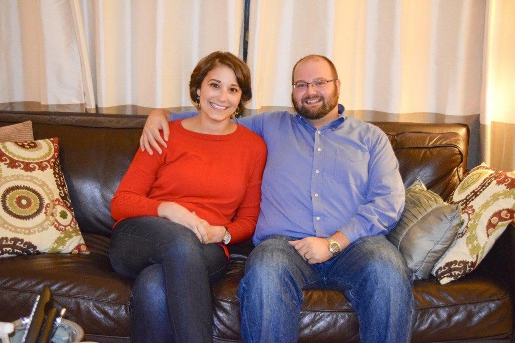 Heidi and Matt hang out in their Falls Church home. (Photo: Liz Lizama/News-Press)