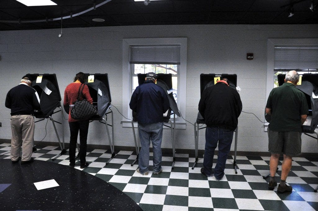 A HEALTHY TURNOUT of voters came to the polls on election day in the City of Falls Church Tuesday. (Photo: News-Press)