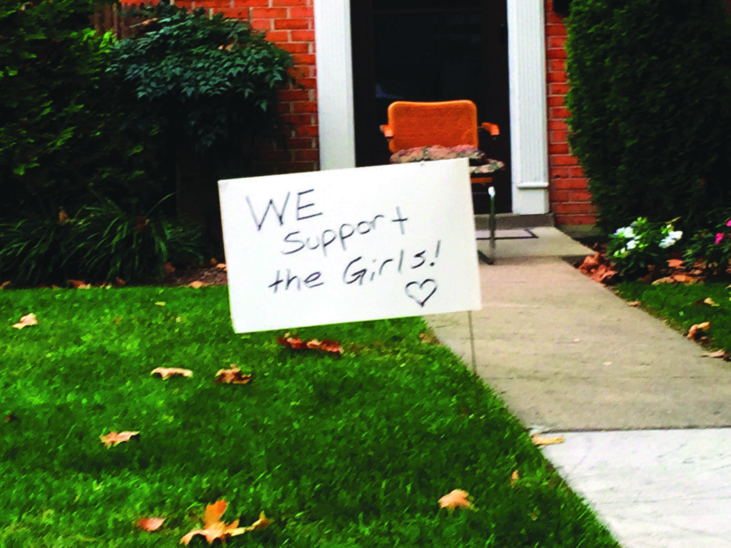 THE ISSUE OF the actions by more than a dozen local figures to write letters three years ago appealing for a shorter rather than longer term for convicted child sexual abuser Michael Gardner took the form of signs like this one on the eve of the City's election next Tuesday (Photo: News-Press)