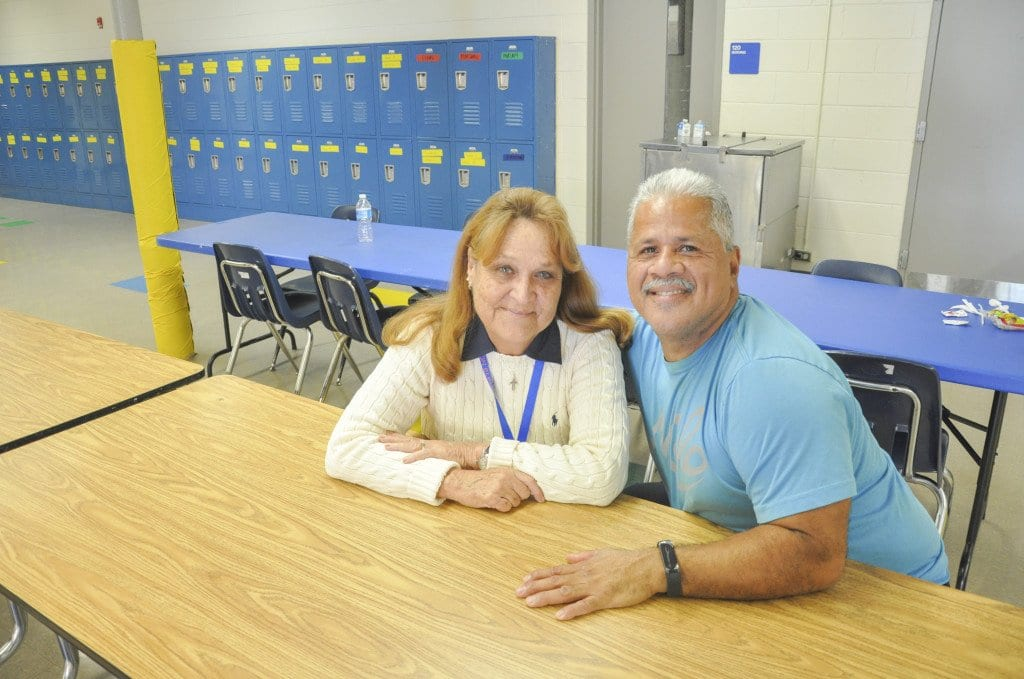 David Morales, the head custodian at Thomas Jefferson Elementary School, and Margaret Ohr have been working together at Jefferson for over 20 years. The two have a close working relationship. (Photo: Drew Costley/News-Press)