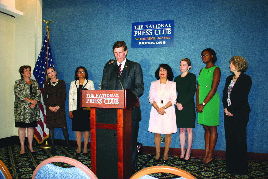 U.S. REP DON BEYER, shown here at a press conference held at the National Press Club last September, spoke on the phone with members of the Virginia press last week. (Photo: News-Press)