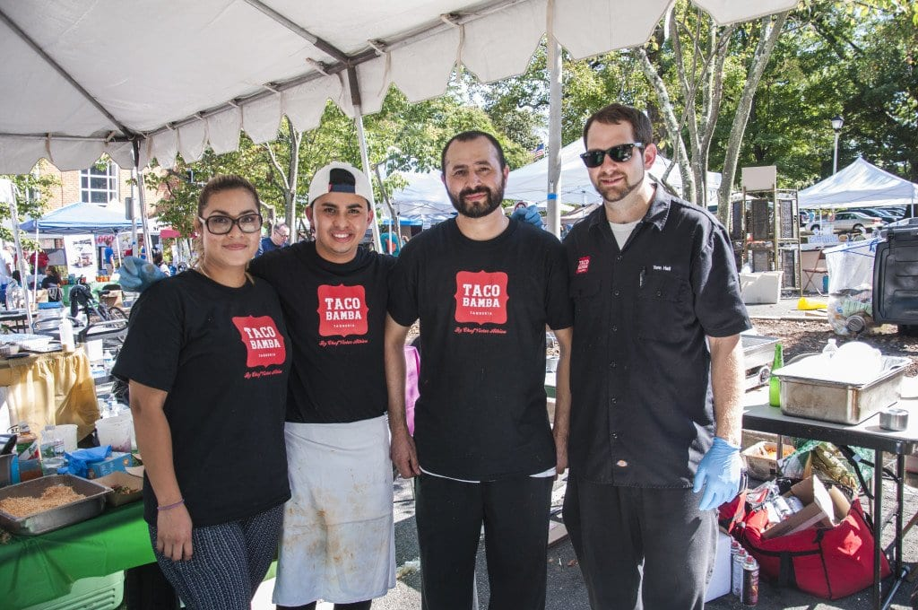Taco Bamba's Taste of Falls Church staff stand together after being named the winner of the 2015 Taste of Falls Church. (Photo: Drew Costley/News-Press)