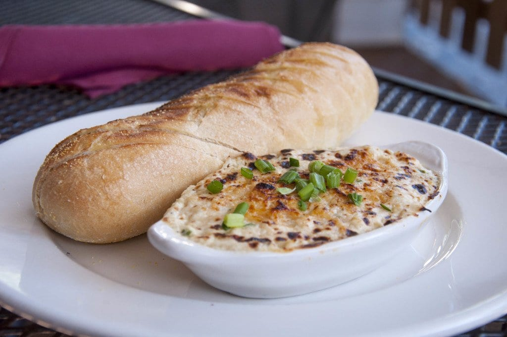 Chef Sullivan's crab dip is on the menu as an appetizer at Dogwood Tavern. (Photo: Drew Costley)