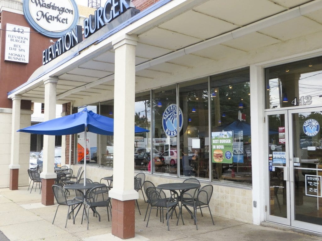 Elevation Burger's founding location, on the edge of Falls Church. The franchise started at this location nearly 10 years ago. (Photo: Patricia Leslie/News-Press)