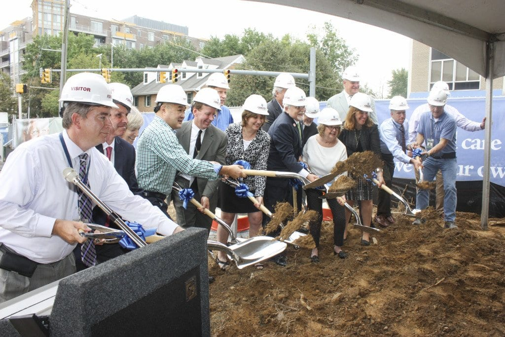 "BREAKING THE GROUND, aka a ""groundbreaking,"" at the W. Broad Street site of the former Burger King was a large delegation of Falls Church dignitaries ceremonially launching the construction of a new senior living mixed use project, The Kensington. (Photo: News-Press)"